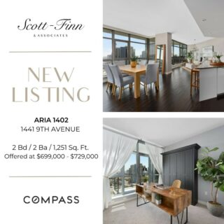 Super chic sky high home at Aria in Cortez Hill! 14th floor home with wraparound deck off living and dining area. Expansive views and modern style make this a showcase home. This turnkey condo offers 2 good sized rooms, optional murphy bed, 2 parking spaces, large storage unit and Aria has a great party/conference room, well equipped gym, pool & spa. Contact us for a showing at 619-762-4099  Scott-Finn & Associates DRE #01493056 Compass DRE #01527365  #realestatesandiego #compasssd