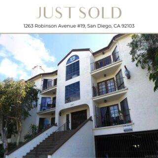 Congratulations @michelleplastirasrealtor for closing escrow on this charming condo in Hillcrest! We are thrilled for her and her clients 🙂  Scott-Finn & Associates DRE# 01493056  Compass DRE# 01527365