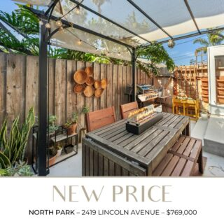 This charming home now has an adjusted price — $769,000! Located in the heart of North Park, within walking distance to fabulous restaurants and retailers. Reach out to set up your showing!  Scott-Finn & Associates DRE# 01493056  Compass DRE# 01527365